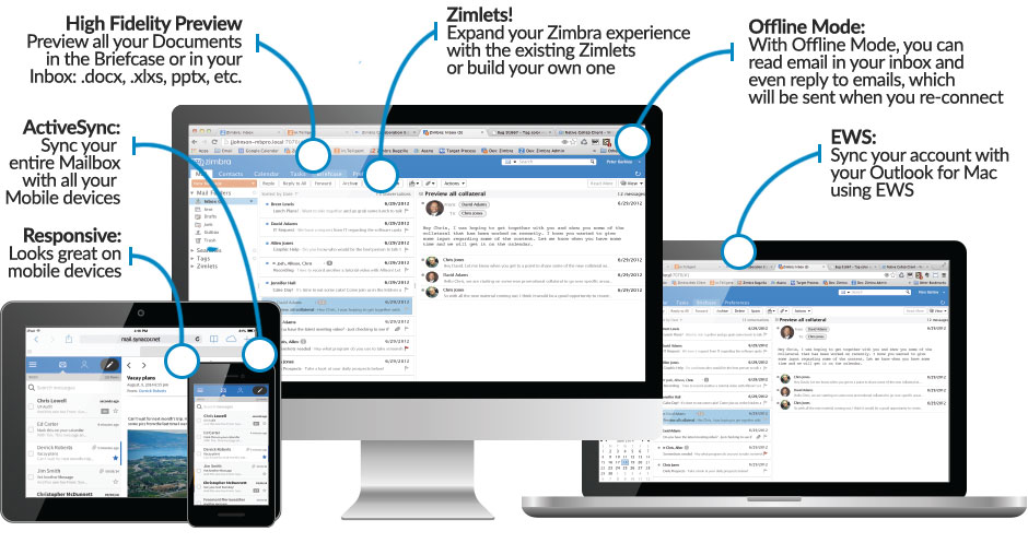 Zimbra Collaboration Overview any device